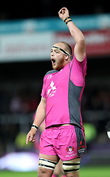 Gloucester's Charlie Beckett during the Challenge Cup match at Kingsholm Stadium, Gloucester.