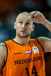 24-11-2017 NED: WC qualification Netherlands - Croatia, Almere<br /> First Round - Group D at the arena Topsportcentrum / Nick Oudendag #14 of Netherlands