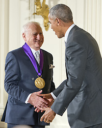 September 22, 2016 - Washington, District of Columbia, U.S. - United States President BARACK OBAMA presents the 2015 National Medal of Arts to MEL BROOKS, Actor, Comedian, & Writer of New York, New York during a ceremony in the East Room of the White House.(Credit Image: © Ron Sachs/CNP via ZUMA Wire)