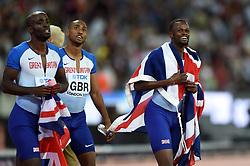 The Great Britain team celebrate a bronze medal finish - Mandatory byline: Patrick Khachfe/JMP - 07966 386802 - 13/08/2017 - ATHLETICS - London Stadium - London, England - Men's 4x400m Metres Relay Final - IAAF World Championships
