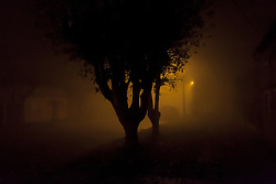 June 4, 2017 - Osorno, Chile - A dense fog covers the city of Osorno which is one of the most polluted cities in Chile. The base of the heating is the firewood and during the year has already had several days of environmental alert in Osorno, Chile, on June 4, 2017. (Credit Image: © Fernando Lavoz/NurPhoto via ZUMA Press)