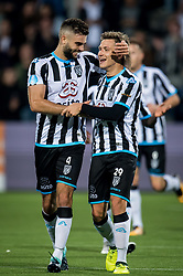 (L-R) Robin Propper of Heracles Almelo, Reuven Niemeijer of Heracles Almelo 2-3 during the Dutch Eredivisie match between Heracles Almelo and Feyenoord Rotterdam at Polman stadium on September 09, 2017 in Almelo, The Netherlands