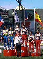 20090405: OURIQUE, ALGARVE, PORTUGAL - SEBASTIEN LOEB and  DANIEL ELANA (Citroen) win WCR Portugal Rally 2009. In picture also HIRVONEN<br /> PHOTO: CITYFILES
