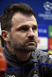 December 10, 2018 - Bruges, Belgique - BRUGGE, DECEMBER 10 :  Ivan Leko head coach of Club Brugge pictured during press conference the day before the UEFA Champions League group A match between Club Brugge KV and Atletico Madrid on December 10, 2018 in Brugge, 10/12/2018 (Credit Image: © Panoramic via ZUMA Press)