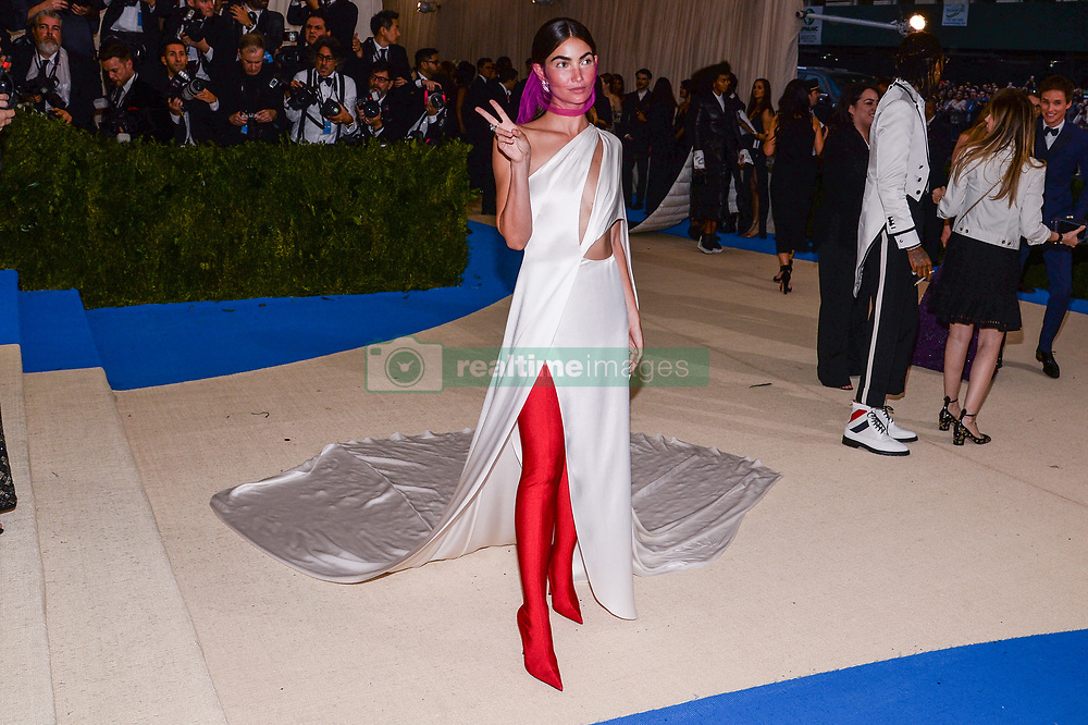 Lily Aldridge arriving at The Metropolitan Museum of Art Costume Institute Benefit celebrating the opening of Rei Kawakubo / Comme des Garcons : Art of the In-Between held at The Metropolitan Museum of Art  in New York, NY, on May 1, 2017. (Photo by Anthony Behar) *** Please Use Credit from Credit Field ***