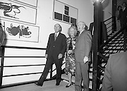 24/08/1984<br /> 08/24/1984<br /> 24 August 1984<br /> Opening of ROSC '84 at the Guinness Store House, Dublin. President Patrick Hillery and Maeve Hillery are guided around the exhibition by Pat Murphy, Chairman of ROSC.