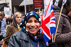 London, March 21st 2015. Thousands of people from across the UK march along Regent Street in the Stand Up To Racism protest.