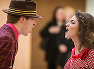 """Town of Wallkill, New York - A Warwick High School student sings a song from """"All Shook Up"""" during the Orange County Arts Council's All-County High School Musical Showcase and Arts Display at the Galleria at Crystal Run on Feb. 27, 2016."""