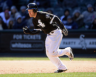 CHICAGO - APRIL 09:  Todd Frazier #21 of the Chicago White Sox runs the bases against the Cleveland Indians on April 9, 2016 at U.S. Cellular Field in Chicago, Illinois.  The White Sox defeated the Indians 7-3.  (Photo by Ron Vesely)  Subject: Todd Frazier