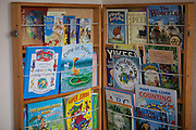 Books for children in the visitors centre. HMP Styal, Wilmslow, Cheshire