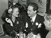 1945 Simone Simone & Stephen Crane at Mocambo Nightclub