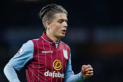 Jack Grealish of Aston Villa (making his first Premier League start) looks on - Photo mandatory by-line: Rogan Thomson/JMP - 07966 386802 - 07/04/2015 - SPORT - FOOTBALL - Birmingham, England - Villa Park - Aston Villa v Queens Park Rangers - Barclays Premier League.