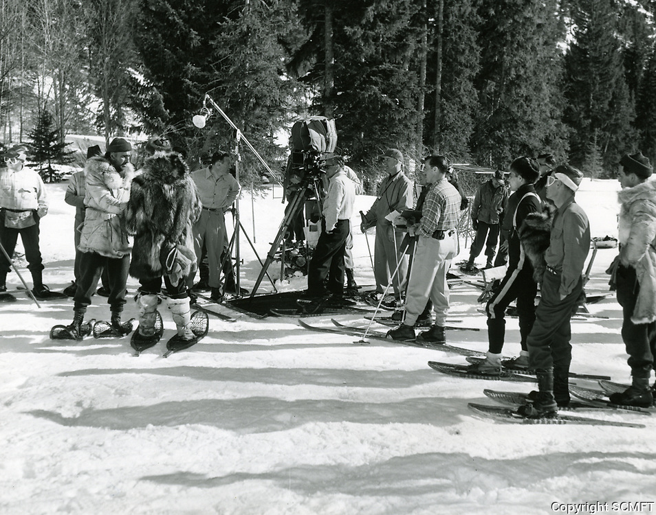 1952 Filming The Wild North at MGM Studios