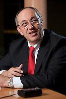 26 FEB 2009, BERLIN/GERMANY:<br /> Joel Saveuse, Chef der Metro-SB-Warenhaustocher real und metro Vorstandsmitglied, waehrend einem Interview, nach der Preisverleihung des Best of European Business Awards, Franzoesische Botschaft<br /> IMAGE: 20090226-04-011