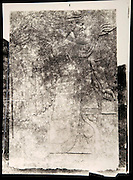 """EXCLUSIVE (b/w photo) Relief depicting a Winged Genie, from the Palace at Nimrud (Kalah), Iraq, Middle East. Lost at Shatt al-Arab in 1855. Picture by Victor Place (1818 - 1875)...Additional info :..Nimroud - Palais du N.O. (N.A. pl. 46-3 """"Divinité Ailée"""") - Perdu Chatt el Arab (?) 1855 - Cliché V. Place"""
