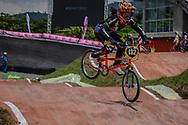#132 (RESTREPO Mara Camila) COL at the 2016 UCI BMX World Championships in Medellin, Colombia.