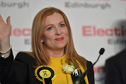SCOTTISH PARLIAMENTARY ELECTION 2016 – Ash Denham, Scottish National Party (SNP) winning the Eastern parliamentary election at the Royal Highland Centre, Edinburgh for the counting of votes and declaration of results.<br />(c) Brian Anderson   Edinburgh Elite media