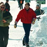 Prins Constantijn op wintersport in Lech Oostenrijk