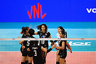 BANGKOK, THAILAND - MAY 31: Team Thailand on Day 3 match between Thailand vs USA at the FIVB Volleyball Nation League 2018, Indoor Stadium Huamark, Bangkok, Thailand on May 31, 2018. <br /> .<br /> .<br /> .<br /> (Photo by: Naratip Golf Srisupab/SEALs Sports Images)<br /> .<br /> Any image use must include a mandatory credit line adjacent to the content which should read: Naratip Golf Srisupab/SEALs Sports Images