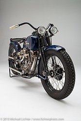 """""""One of One"""", a 1928/1930 Harley-Davidson JDLBA built by Matt Olsen of Carl's Cycle Supply in Aderdeen, SD. Photographed on June 8, 2015 by Michael Lichter in Boulder, CO. ©2015 Michael Lichter."""