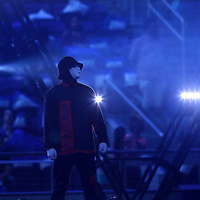 MINNEAPOLIS, MN - MAY 18: Jabbawockeez performs at Pulse Twin Cities  at U.S. Bank Stadium on May 18, 2018 in Minneapolis, Minnesota. (Photo by Adam Bettcher/WireImage) *** Local Caption *** Jabbawockeez
