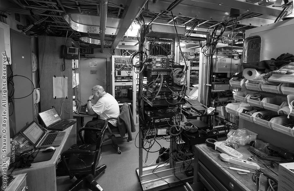 Ken Kloppenborg Satellite Communications Engineer at work