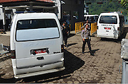 CILACAP, INDONESIA - APRIL 28: <br /> <br /> Ambulances Carrying Coffins For Death Penalty<br /> <br /> Condemned Bali Nine duo Andrew Chan and Myuran Sukumaran have been given 72 hours execution notice. The execution could be held as soon as Tuesday midnight on Nusukamban Island where they have been held, awaiting there fate since March 4th, 2015. Chan and Sukumaran were both sentenced to death after being found guilty of attempting to smuggle 8.3kg of heroin valued at around $4 million from Indonesia to Australia along with 7 other accomplices.<br /> ©Himawan Nugraha/Exclusivepix Media