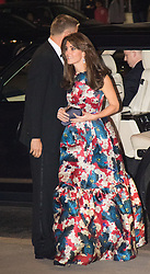 Victoria and Albert Museum, London, October 27th 2015. The Duchess of Cambridge arives at the Victoria and Albert Museum in London to attend a Gala Dinner for 100 Women in Hedge Funds, a phi;anthropic initiative of which she is Patron, in aid of children's charity The Art Room.