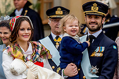 Christening of Prince Gabriel of Sweden - 25 Dec 2017