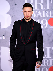 Liam Payne attending the Brit Awards 2019 at the O2 Arena, London.