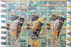 Museum Island,  Pergamon Museum Ancient Assyrian ceramic frieze in Germany, Berlin, UNESCO World Heritage Site