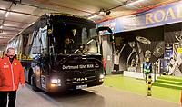 Ankunft Mannschaftsbus Borussia Dortmund im Signal Iduna Park spillebussen<br /> Dortmund, 12.04.2017, Fussball, Champions League, Viertelfinale Hinspiel, Borussia Dortmund - AS Monaco<br /> <br /> Norway only
