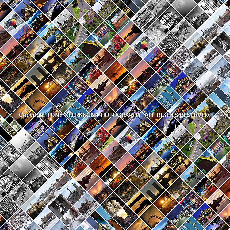 Collage multiple images of Glasgow