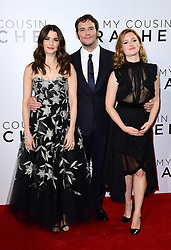 Rachel Weisz, Holliday Grainger (right) and Sam Claflin attending The world premiere of My Cousin Rachel held at Picturehouse Central Cinema in Piccadilly, London.