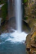 Lower part of Christine Falls on Van Trump Creek in Mount Rainier National Park, Washington State, USA