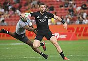 New Zealand's Kurt Baker during the HSBC Singapore Rugby Sevens Cup Quarter Final - Fiji v New Zealand   won by Fiji 19-5 at The National Stadium, Singapore, Sunday, April 14th, 2019. (Steve Flynn/Image of Sport)