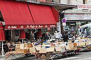 France, Paris, Le Cafe de Paris Typical outdoor cafe