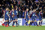 ADRIEN RABIOT (PSG) scored a goal, celebration with Julian Draxler (PSG), Edinson Roberto Paulo Cavani Gomez (psg) (El Matador) (El Botija) (Florestan), Yuri Berchiche (PSG), Giovani Lo Celso (PSG), Thomas Meunier (PSG), Angel Di Maria (psg)during the French Cup, round of 32, football match between Paris Saint-Germain and EA Guingamp on January 24, 2018 at Parc des Princes stadium in Paris, France - Photo Stephane Allaman / ProSportsImages / DPPI