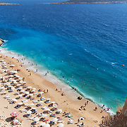 Turquoise sea in Kaputas beach view from above, Turkey
