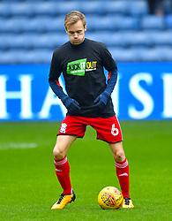 Birmingham City's Maikel Kieftenbeld warms up ahead of the match
