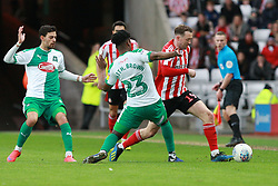 March 2, 2019 - Sunderland, England, United Kingdom - Sunderland's Aidan McGeady contests for the ball with Plymouth Argyle's Ashley Smith-Brown during the Sky Bet League 1 match between Sunderland and Plymouth Argyle at the Stadium Of Light, Sunderland on Saturday 2nd March 2019. (Credit Image: © Mi News/NurPhoto via ZUMA Press)
