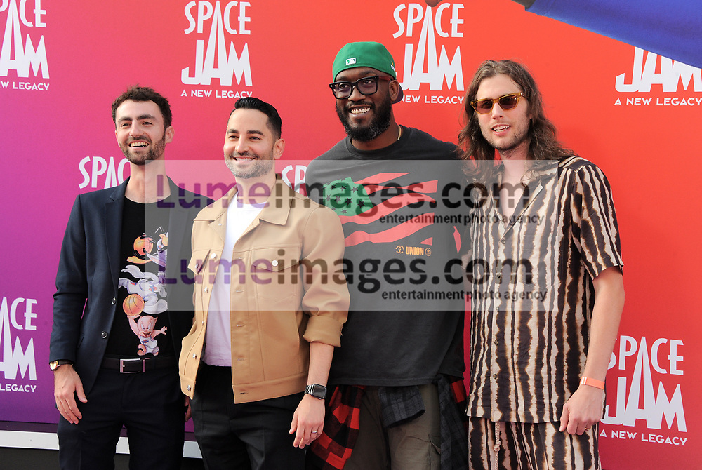 Sev Ohanian, Archie Davis, and Ludwig Göransson at the Los Angeles premiere of 'Space Jam: A New Legacy' held at the Regal LA Live in Los Angeles on July 12, 2021.