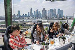 May 5, 2019 - London, London, United Kingdom - Image licensed to i-Images Picture Agency. 05/05/2019. London, United Kingdom. Diners enjoy the Sky open-air restaurant in London. (Credit Image: © i-Images via ZUMA Press)