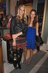 Left to right, POPPY DELEVIGNE and AMANDA CROSSLEY at a preview of Garrard's new collections and celebrates a Kaleidoscope of Colour at Garrard, 24 Albemarle Street, London on 10th May 2007.<br />