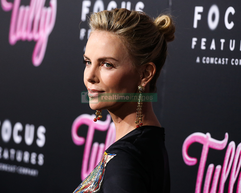 LOS ANGELES, CA, USA - APRIL 18: Los Angeles Premiere Of Focus Features' 'Tully' held at Regal Cinema L.A. Live Stadium 14 on April 18, 2018 in Los Angeles, California, United States. 18 Apr 2018 Pictured: Charlize Theron. Photo credit: Xavier Collin/Image Press Agency / MEGA TheMegaAgency.com +1 888 505 6342