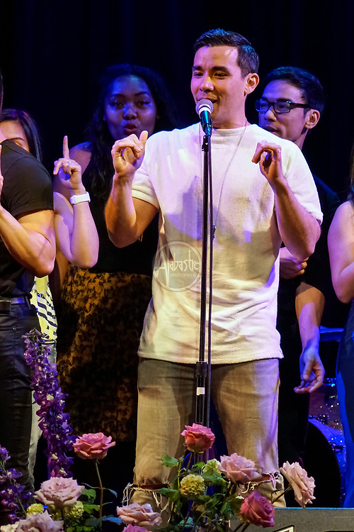 """Broadway Barkada - """"Balikbayan: A Homecoming Concert"""" at Columbia City Theatre, Seattle benefiting The Filipino Veterans Recognition and Education Project. Conrad Ricamora. Photo by Alabastro Photography."""
