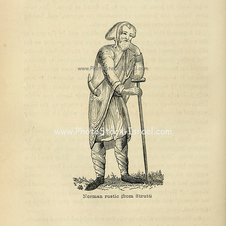Norman Rustic From the Book 'Danes, Saxons and Normans : or, Stories of our ancestors' by Edgar, J. G. (John George), 1834-1864 Published in London in 1863