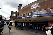 Wood Green Underground Station in North London. Part of Transport for London's overland rail network. Over recent years many of the stations in and around London have fallen into disrepair, with stations seemingly falling apart, graffiti covered and generally overused, and dirty. Not the ideal environment for the paying public to travel around the capital upon. Many commuters complain about the high prices that they pay on a monthly basis for services which are in no fit state.