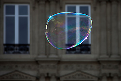 Close-up of soap bubbles floating in air, Paris, France