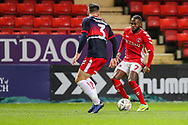 Doncaster Rovers defender Danny Andrew (3) and Charlton Athletic midfielder Mark Marshall (7) during the The FA Cup 2nd round match between Charlton Athletic and Doncaster Rovers at The Valley, London, England on 1 December 2018. Photo by Toyin Oshodi